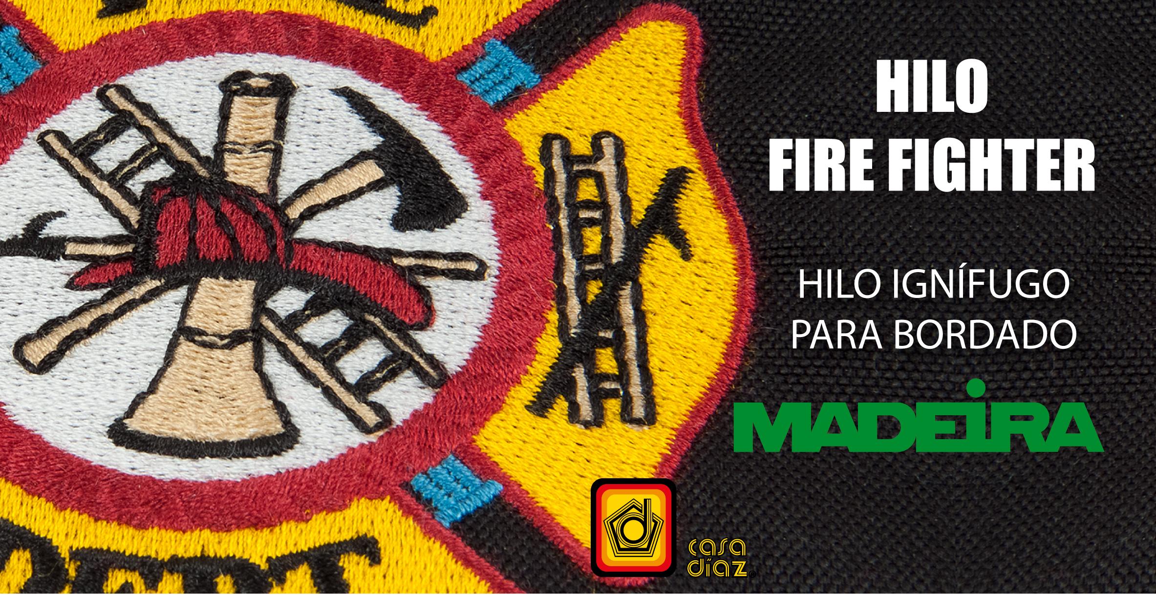 Hilo Fire Fighter Madeira Bordado